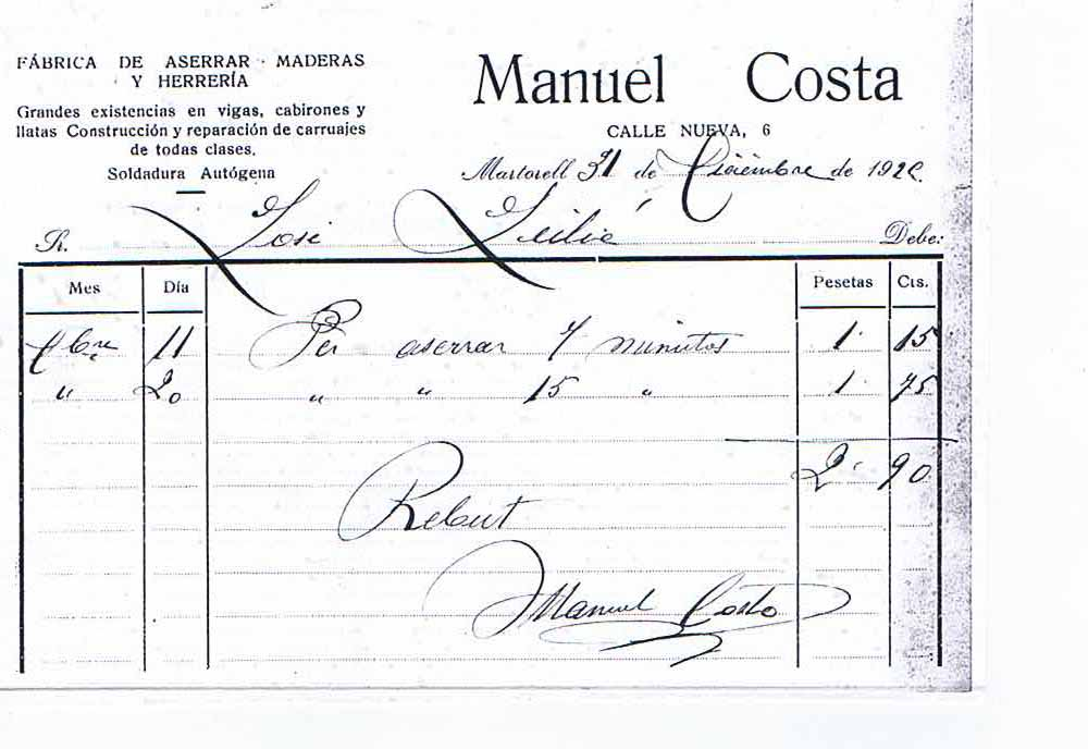 Historia del Taller Costa de Martorell