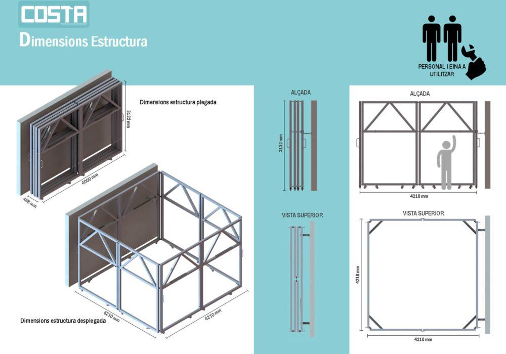Estructura Soporte Red Casteller/diseño/estructuras modulares/desarrollo producto