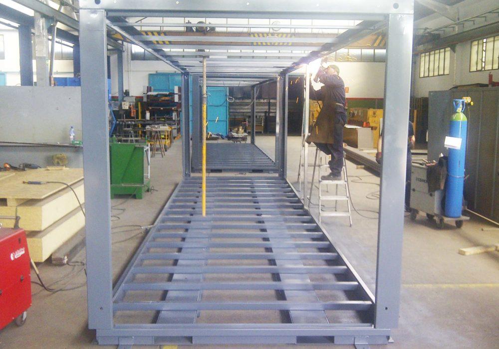 Módulo/fabricación/estructura metálica/construcción industrializada