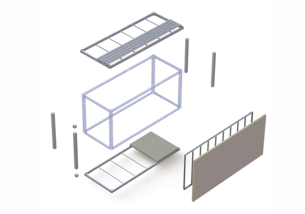 Módulo/componentes/construcción industrializada