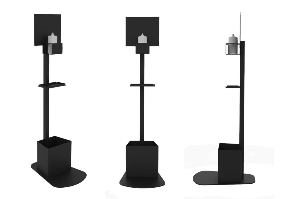 Soporte Hidrogel  Negro/diseño/accesorios Covid-19