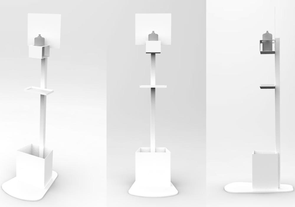 Soporte Hidrogel Blanco/diseño/accesorios Covid-19
