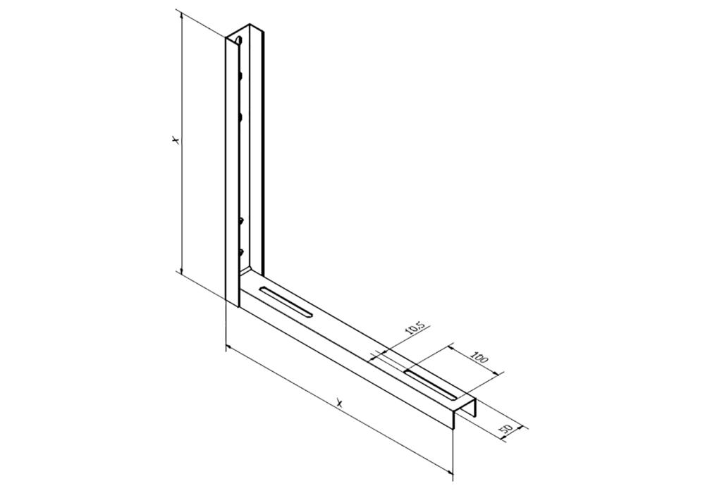 Soporte Aire Acondicionado/dimensiones/soldadura/diseño/corte plasma CNC
