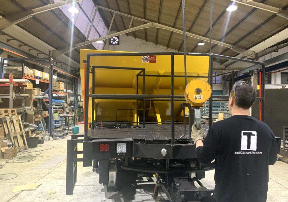 Rehabilitación tolva/vagón/ferrocarriles/soldadura/corte plasma cnc